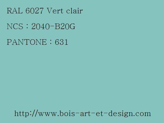 ral 6027 vert 564 423 codes ral codes ncs codes pantone 207 r f rences. Black Bedroom Furniture Sets. Home Design Ideas
