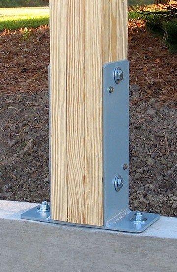 Sturdy Post Brackets | How to Build a Pole Bar / Shed | Pergola