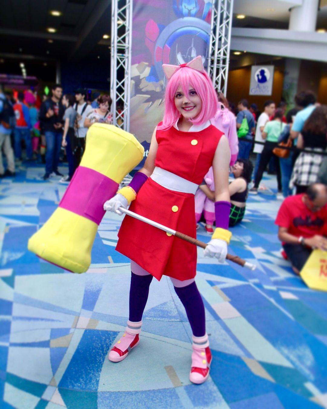 Amy rose boom cosplay #cosplaygirl #cosplay #sonicthehedgehog #amyrose #soniccosplay #amyrosecosplay #sonicboom