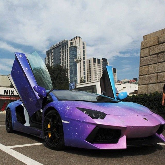 Metrorestyling Galaxy Wrapped Lamborghini Aventador Via