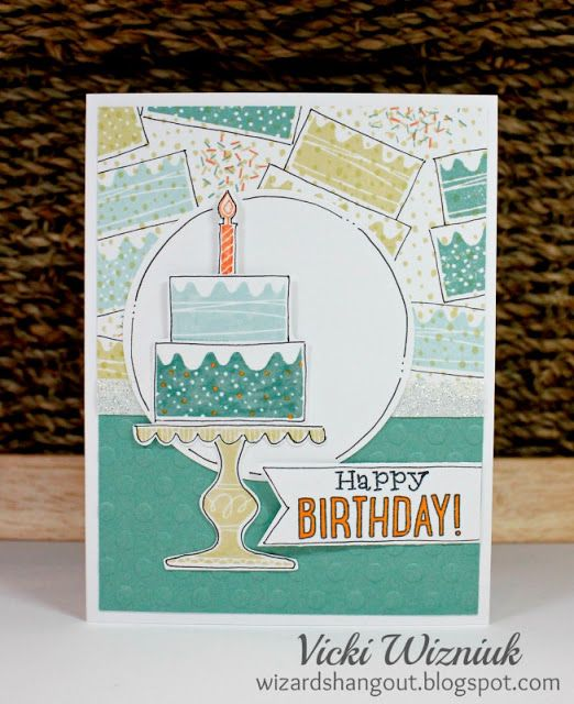 Random Stamped Birthday Card Using Ctmh Wise Guy Birthday Stamp Set