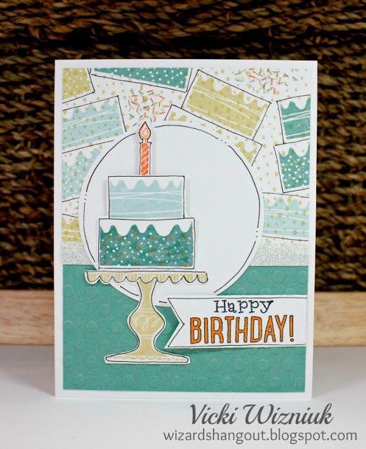 Random Stamped Birthday Card Using Ctmh Wise Guy Birthday Stamp