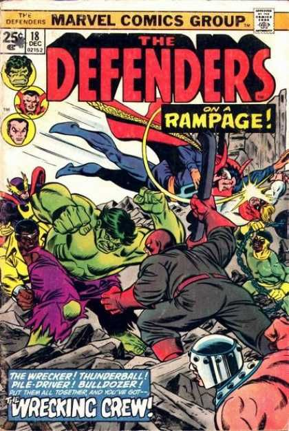 Defenders 18 Marvel Comics Group Comics Defenders Comics Marvel Comics Vintage