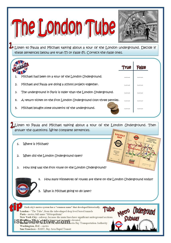 The London Tube Educacion Worksheets Idiomas