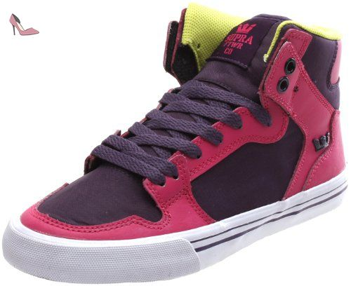 Supra WOMENS SOCIETY II, Baskets mode pour femme Vert vert - Vert - Green - Grün (PURPLE/GREEN - WHITE JKW), 37.5