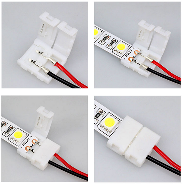 20x 2 Pins Connector For Led Strip Wire 3528 5050 With Pcb Ribbon Led Strip Lighting Strip Lighting Led Strip