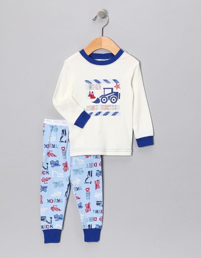 c1b2f648201d Snug Fit Cotton 2-Piece Pajama Set in Under Construction by Vitamins ...