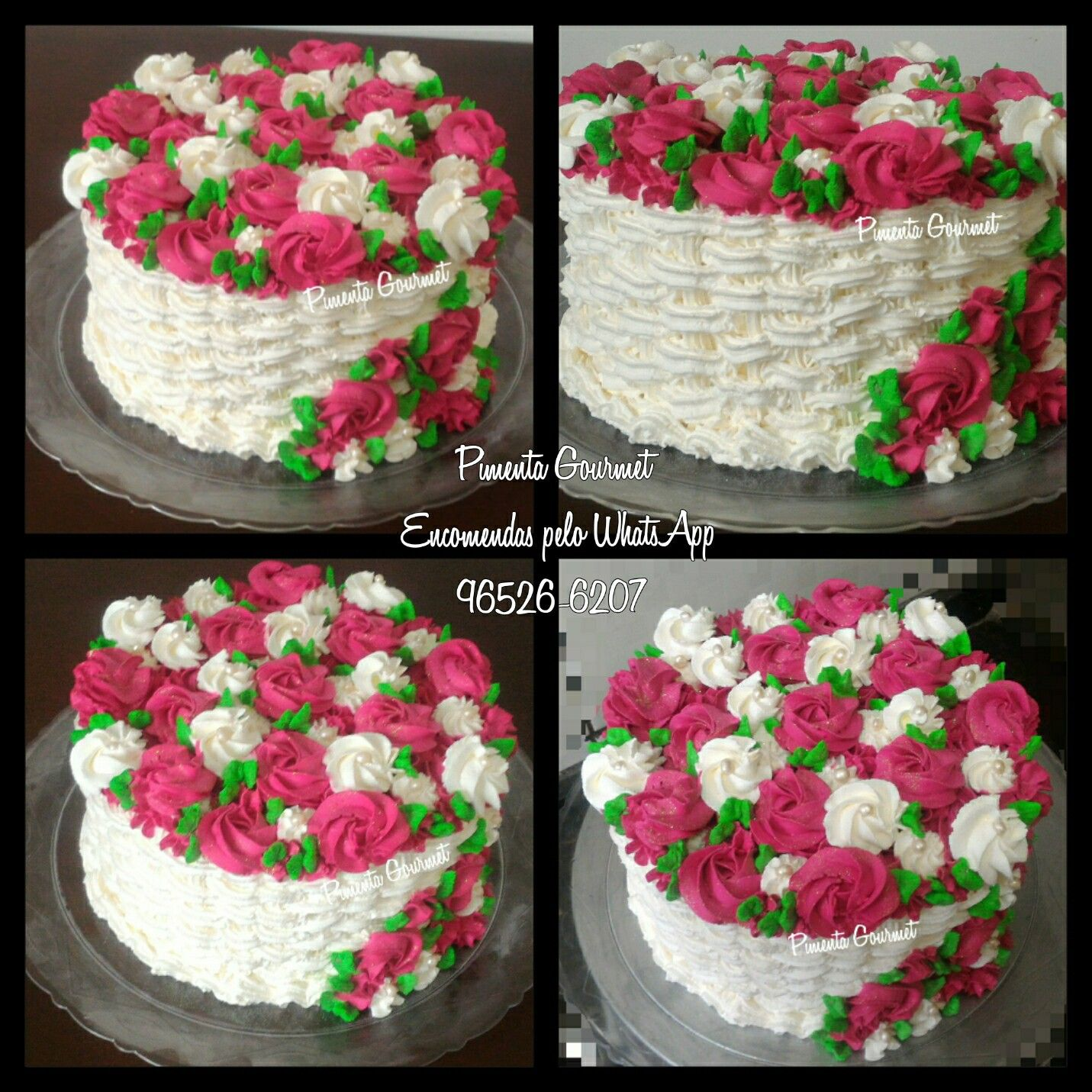Bolo Cesta De Flores Em Chantilly Bolos Decorados Com Chantilly