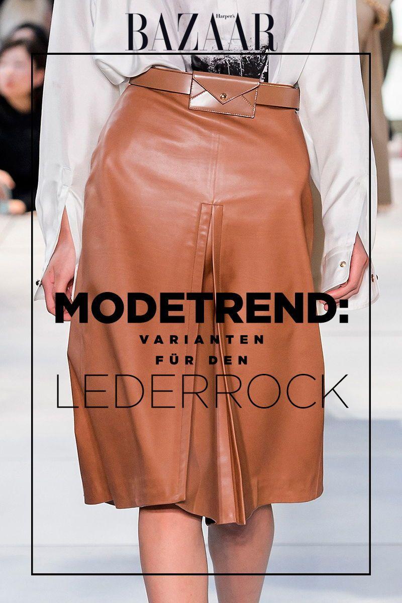 d5f177bfe05b Modetrend Lederrock: 3 Varianten für Frühjahr/Sommer 2019 | Mode ...
