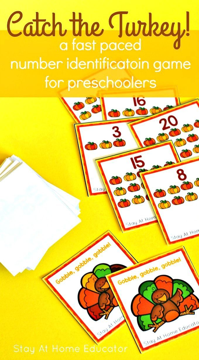 Catch the Turkey - a Thanksgiving Number Identification Game ...