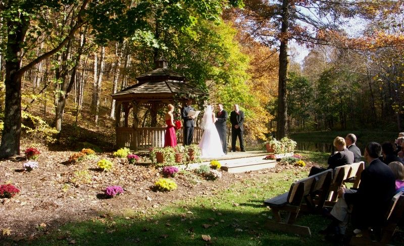 Gazebo Wedding With Brown County State Park In The Background