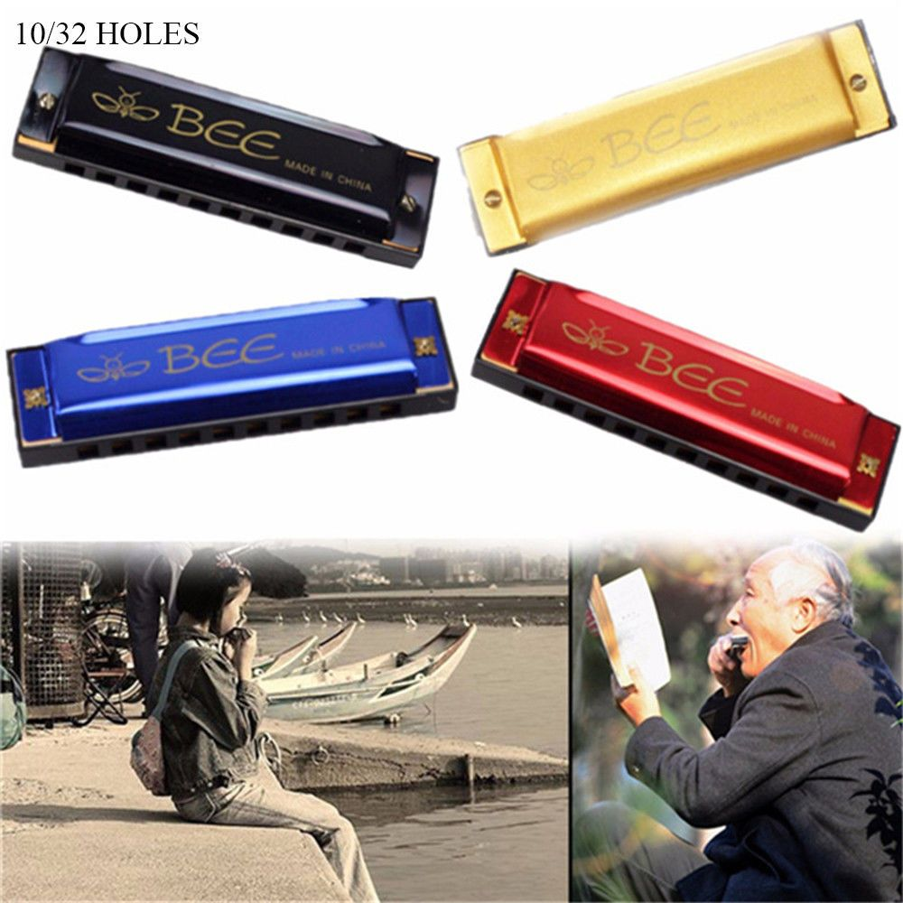 Gift Music Learning Metal Mouth Organ Bee Harmonica Woodwind Musical Instrument