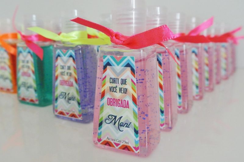 Colorful And Scented Mini Hand Sanitizers As Adult Party Favors