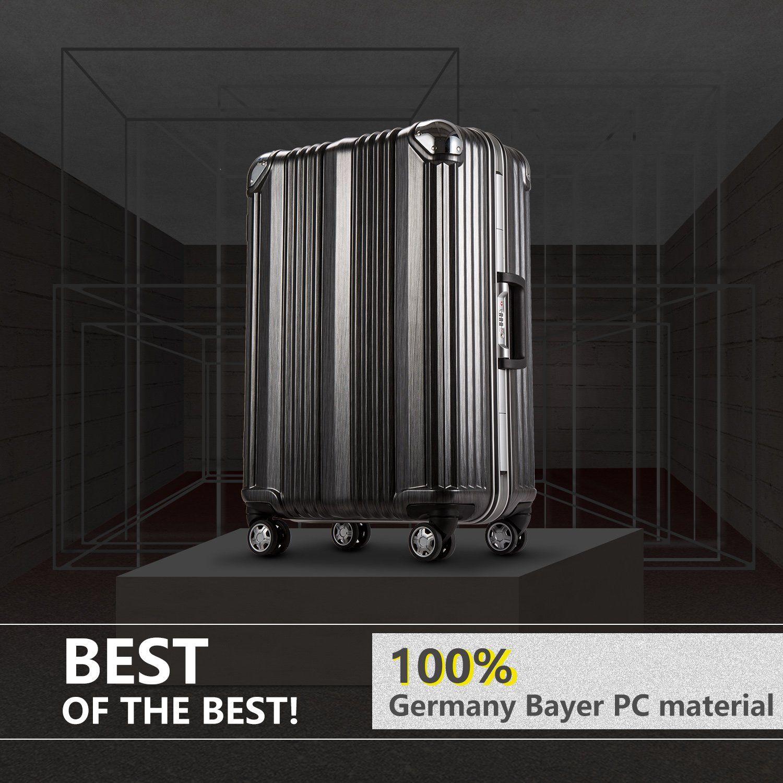 Coolife Luggage Aluminium Frame Suitcase With Tsa Lock 100 Pc M 24in Black Affiliate Luggage Travel Luggage Luggage Tsa Locks