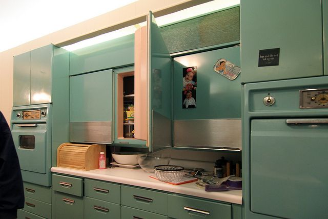 1950 S Metal General Electric Cabinets Kitchen Modern Kitchen