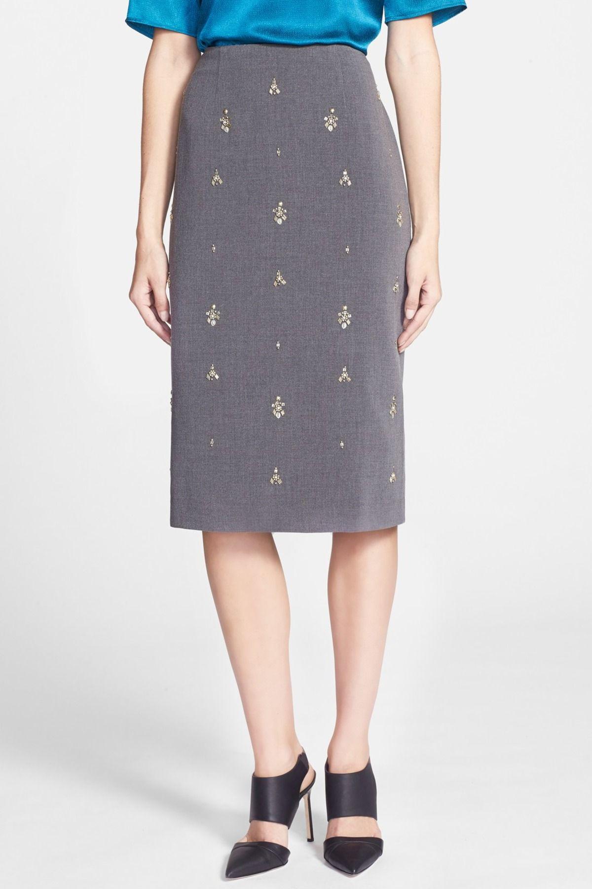 Chelsea28 Embellished Pencil Skirt by Chelsea28 on @nordstrom_rack