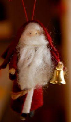 old fashioned santa ornament tutorial