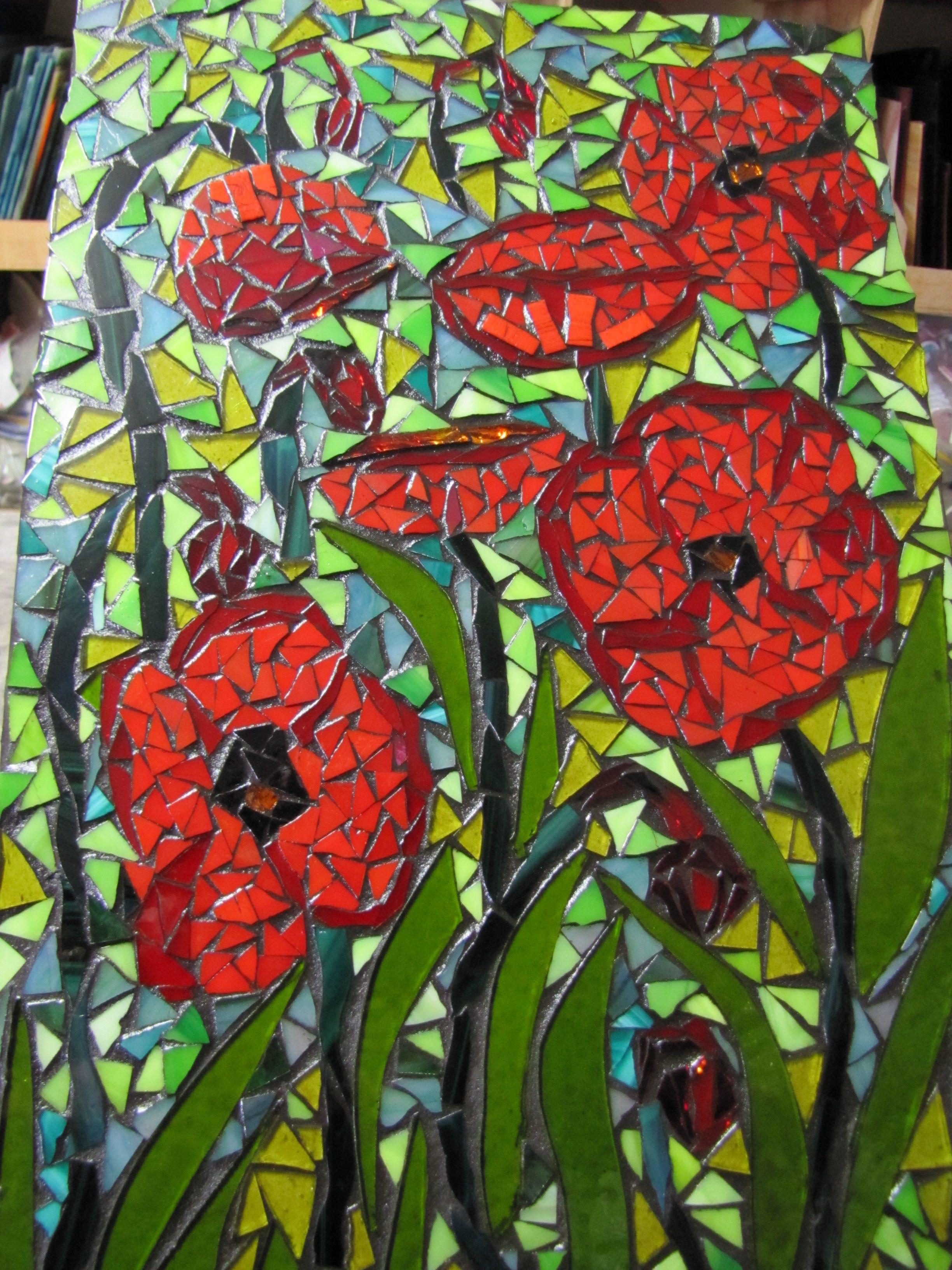 a poppy mosaic by kat gottke