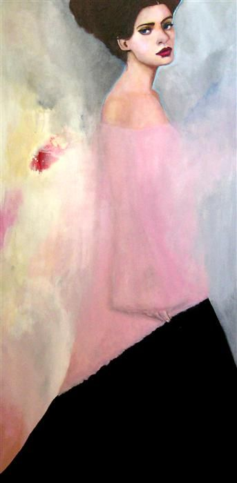 "Original art for sale at UGallery.com | A Moment in Time by Haydee Torres | $2,175 | acrylic painting | 48"" h x 24"" w"
