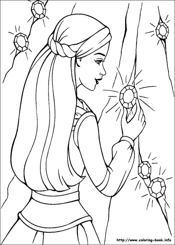 Barbie and the Magic of Pegasus coloring picture   Barbie World ...