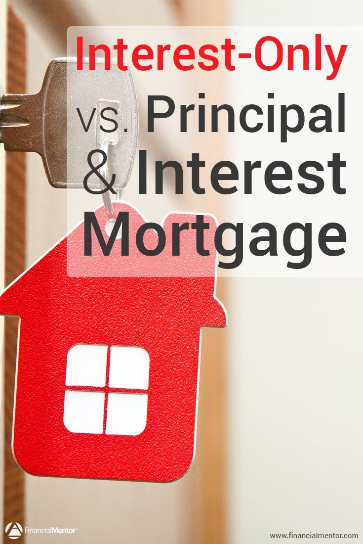 are you trying to compare an interest only mortgage to a