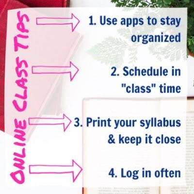 How to Stay Organized in Online College Courses (tips from an expert) (Organized Charm) #onlineclasses