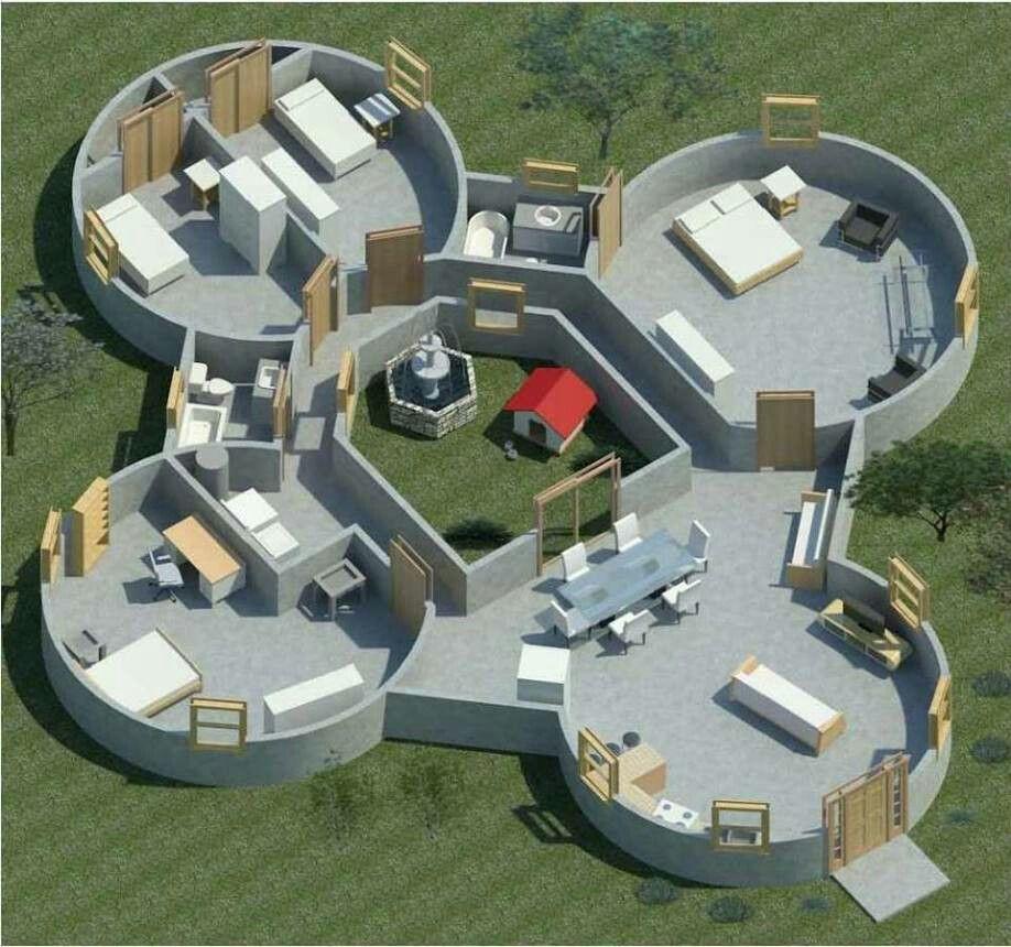 Four Domes With An Interior Quad (styrodome.com