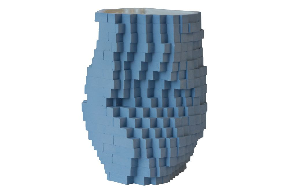 A décorative objet to desire – pixel-inspired products are a big trend. Pixel Vase Number 020 by Julian F Bond, The LIvingetc Edit for Clippings.