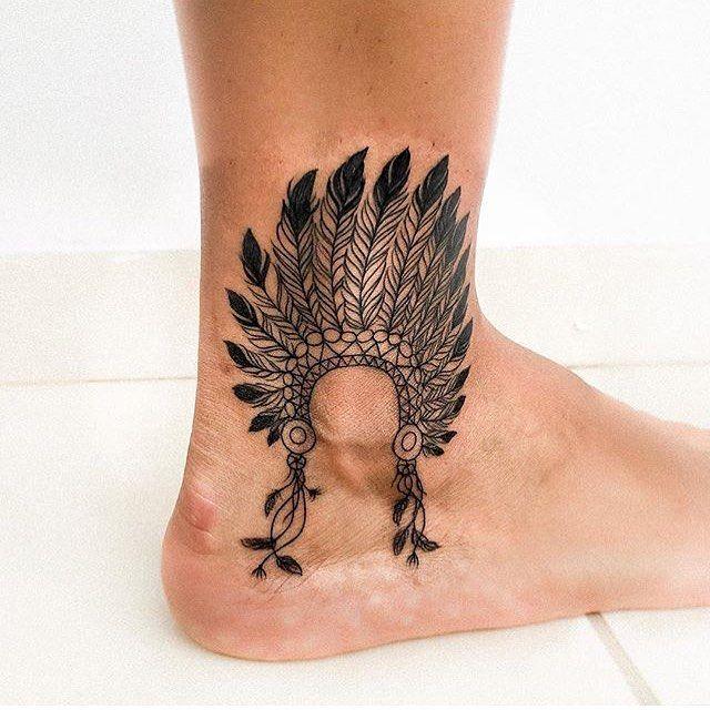 Inktattoo Artist Tatuaje En El Tobillo Para Hombres Tatuajes Indios Tatuajes Flechas
