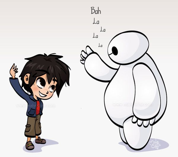 Hiro and Baymax - Fist Bump by Malycia on DeviantArt