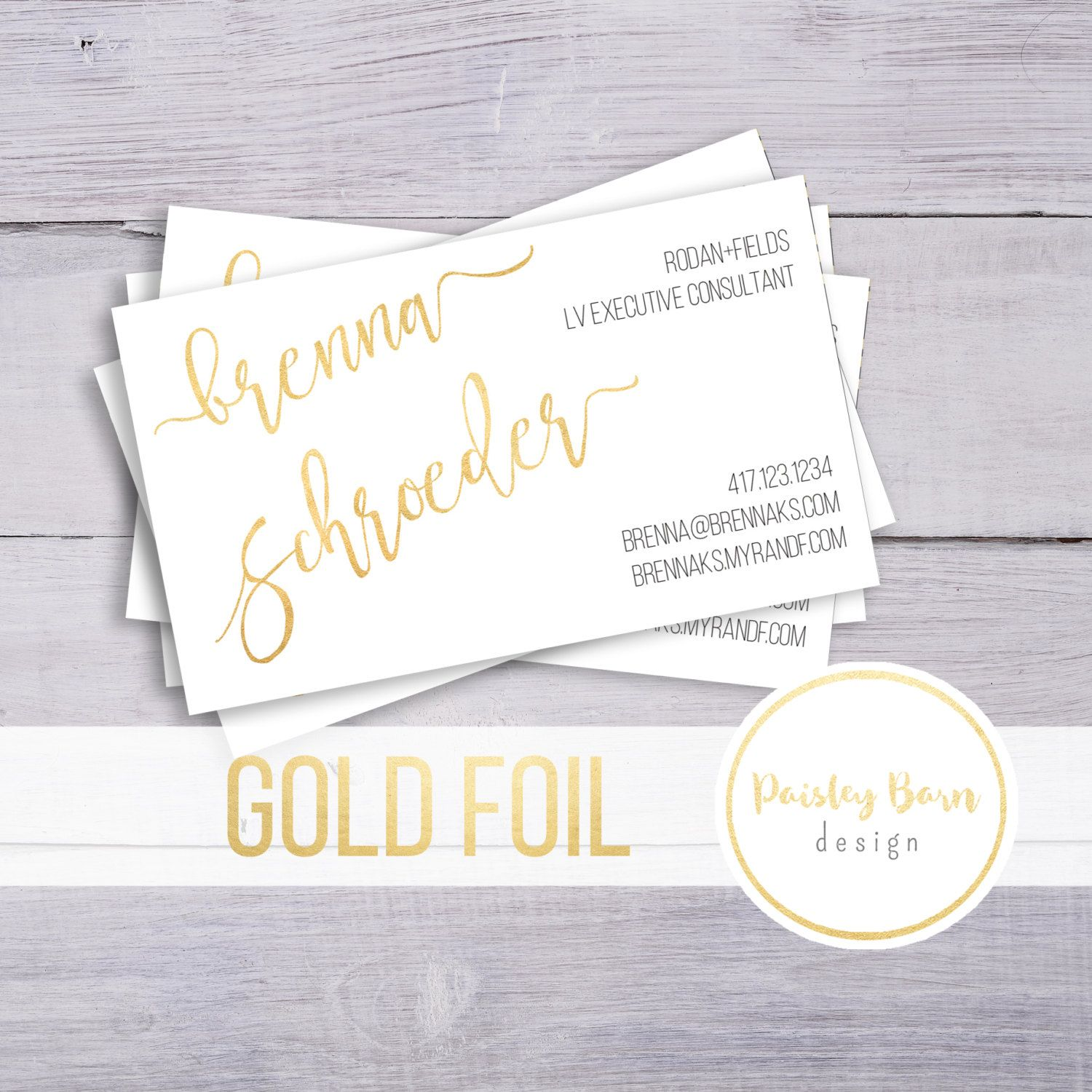 BUSINESS CARDS Gold Foil | skincare, business, marketing, printed ...