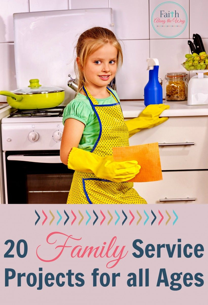 20 Family Service Projects for All Ages Family service