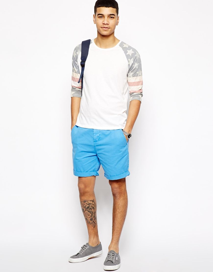 Long Sleeved Shirt with Light Blue Shorts Love It !!!! | Hit List ...