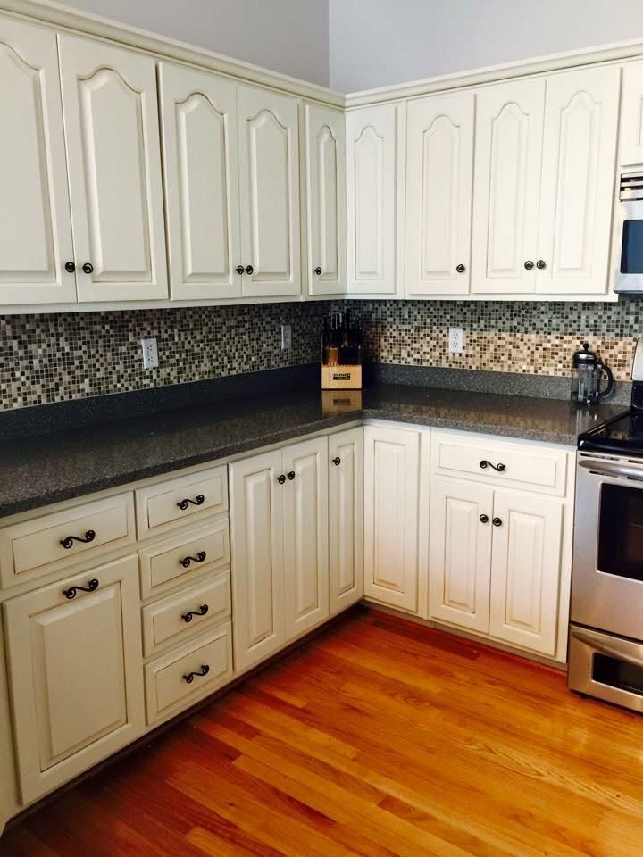 Kitchen Transformation In Antique White Milk Paint  General Magnificent Refinishing Kitchen Cabinets Decorating Design