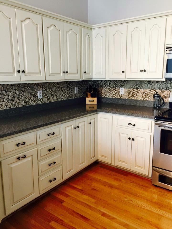 Kitchen Transformation In Antique White Milk Paint Diy Kitchen