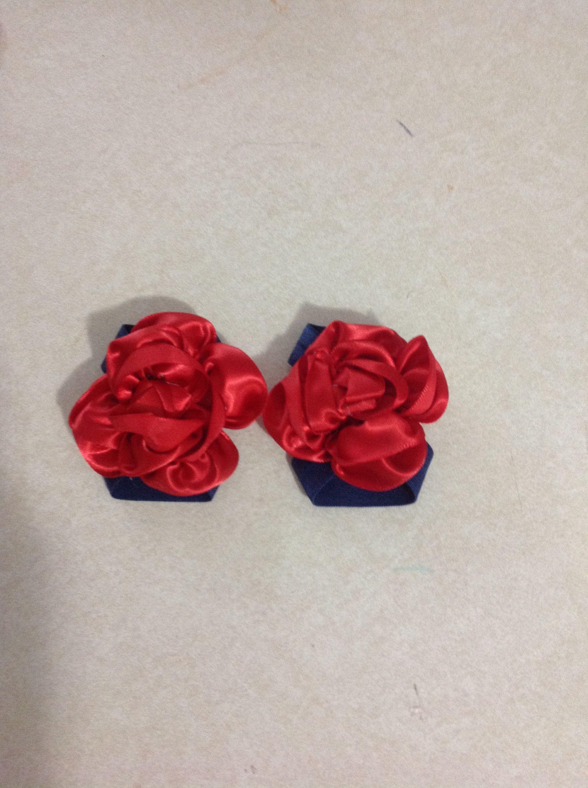 Satin flower sandals