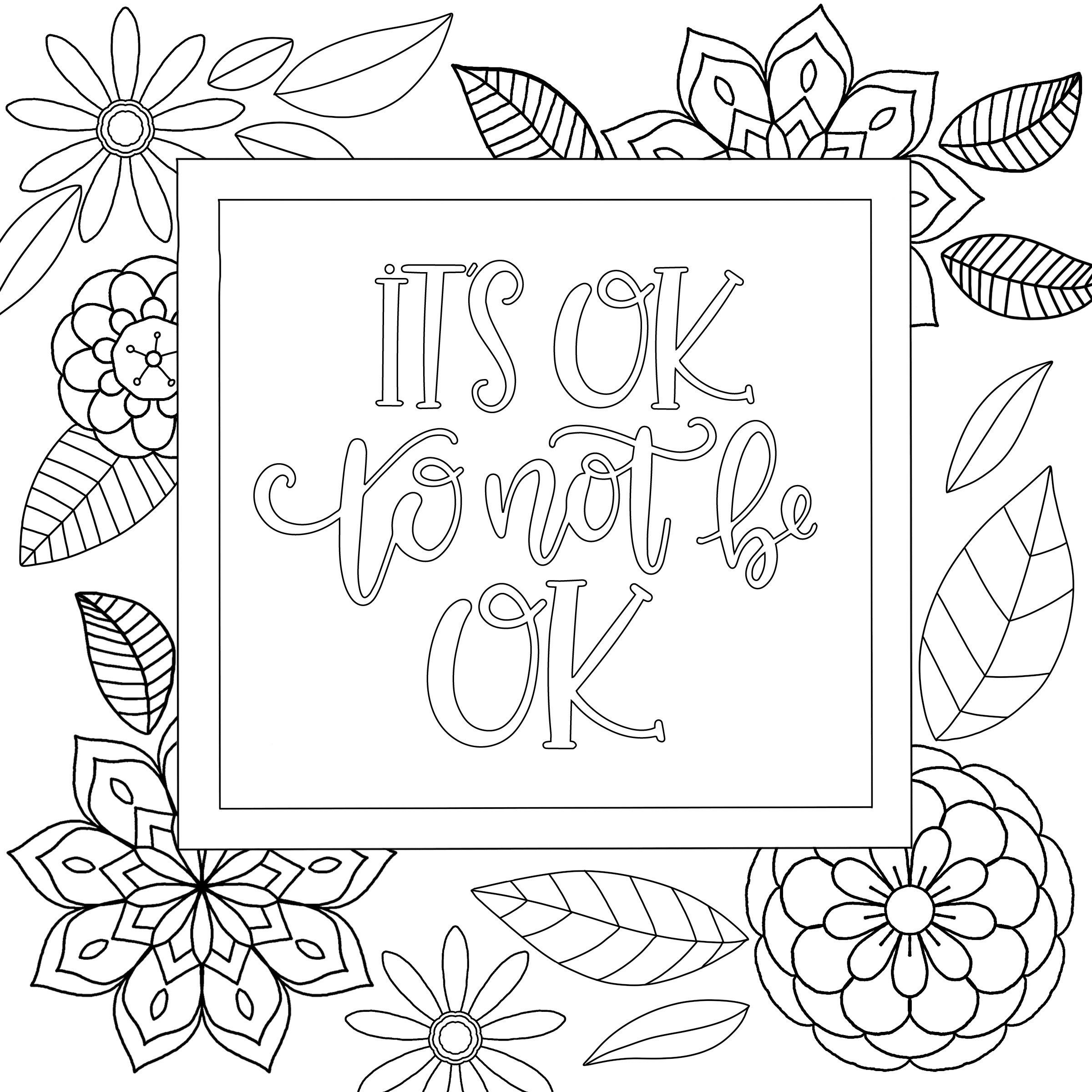 Printable Coloring Pages Quotes