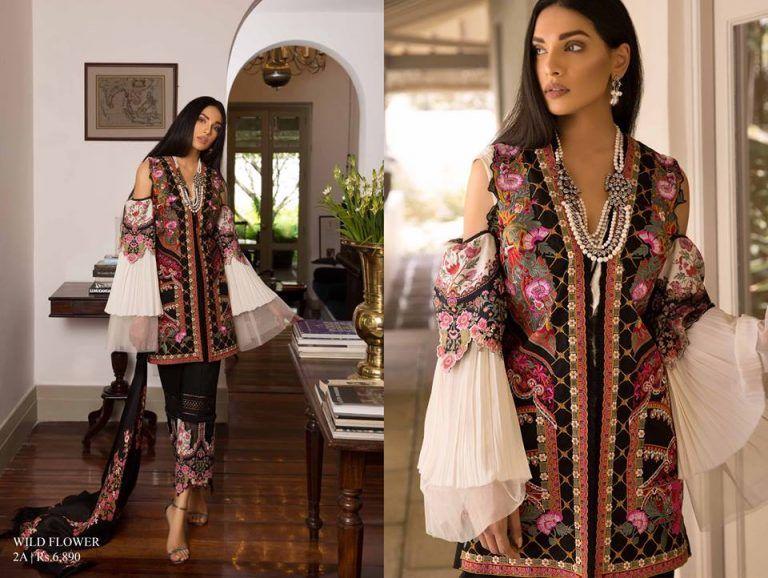 f932bc483d Latest Sana Safinaz Winter Shawl Dresses Collection 2018-2019 ...