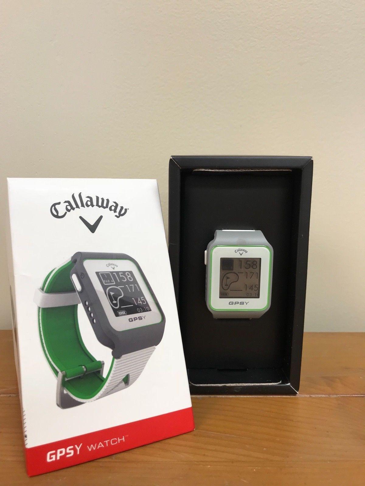CALLAWAY GOLF GPSY SPORT WATCH WHITE/GREEN GPS/RANGE