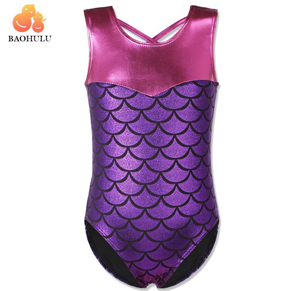 50e6f35d8 BAOHULU Girls Gymnastics Suit Sleeveless Dance Leotards for Kids 3 ...