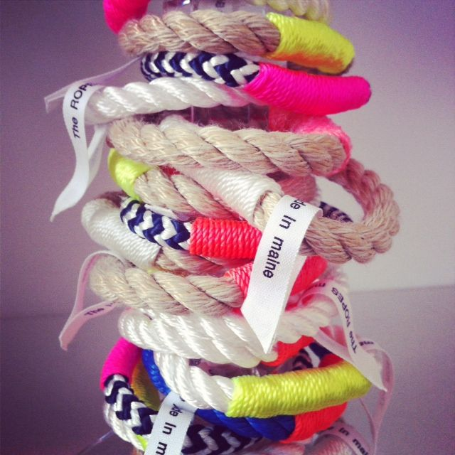 Bangles Galore!  #theropes #theropesmaine #stack #pile #neon #color #rope
