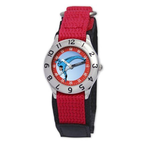 "Marvel Comics Kids' MA0103-D2813-RedVelcro Marvel 'Mr. Fantastic' Classic Time Teacher Watch Marvel Comics. $21.99. Water-resistant to 99 feet (30 M). Labeled ""hour"" and ""minute"" hands. Kid's marvel classic time teacher watch. Helps teach your child how to tell time. Save 37% Off!"