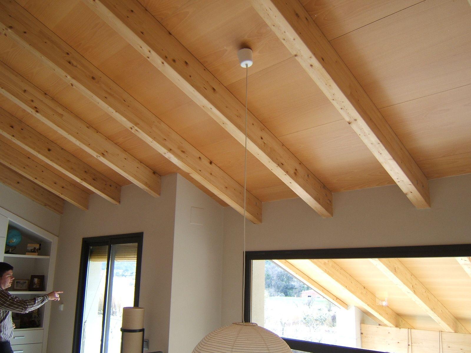 Decoraci n de techos en madera con paneles s ndwich - Techos falsos de madera ...
