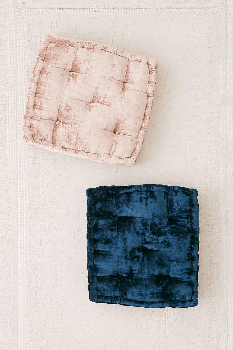 Ruthie Velvet Floor Pillow | Floor pillows, Pillows and Apartments