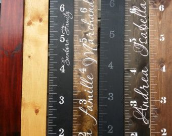 Custom Growth Chart Distressed Wood Growth Chart Growth Stuff To - Custom vinyl decals for wood