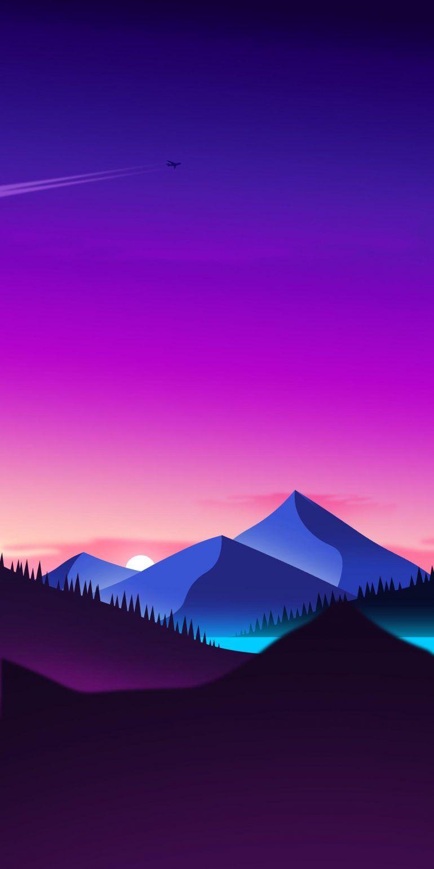 Sunset Iphone X Wallpaper Scenery Wallpaper Landscape Wallpaper Minimalist Wallpaper