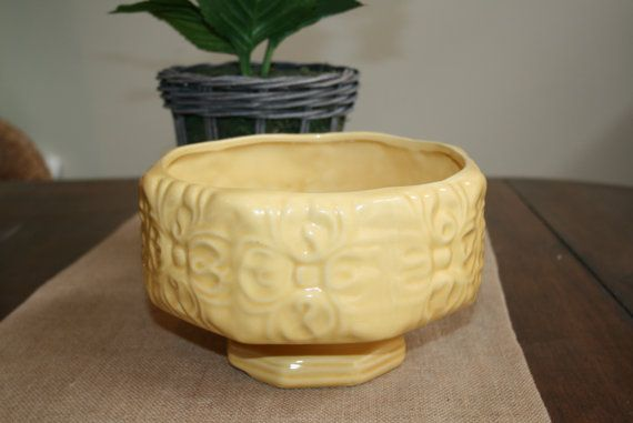 American Bisque Planter Bowl Yellow Gold by AstridsPastTimes, $24.99