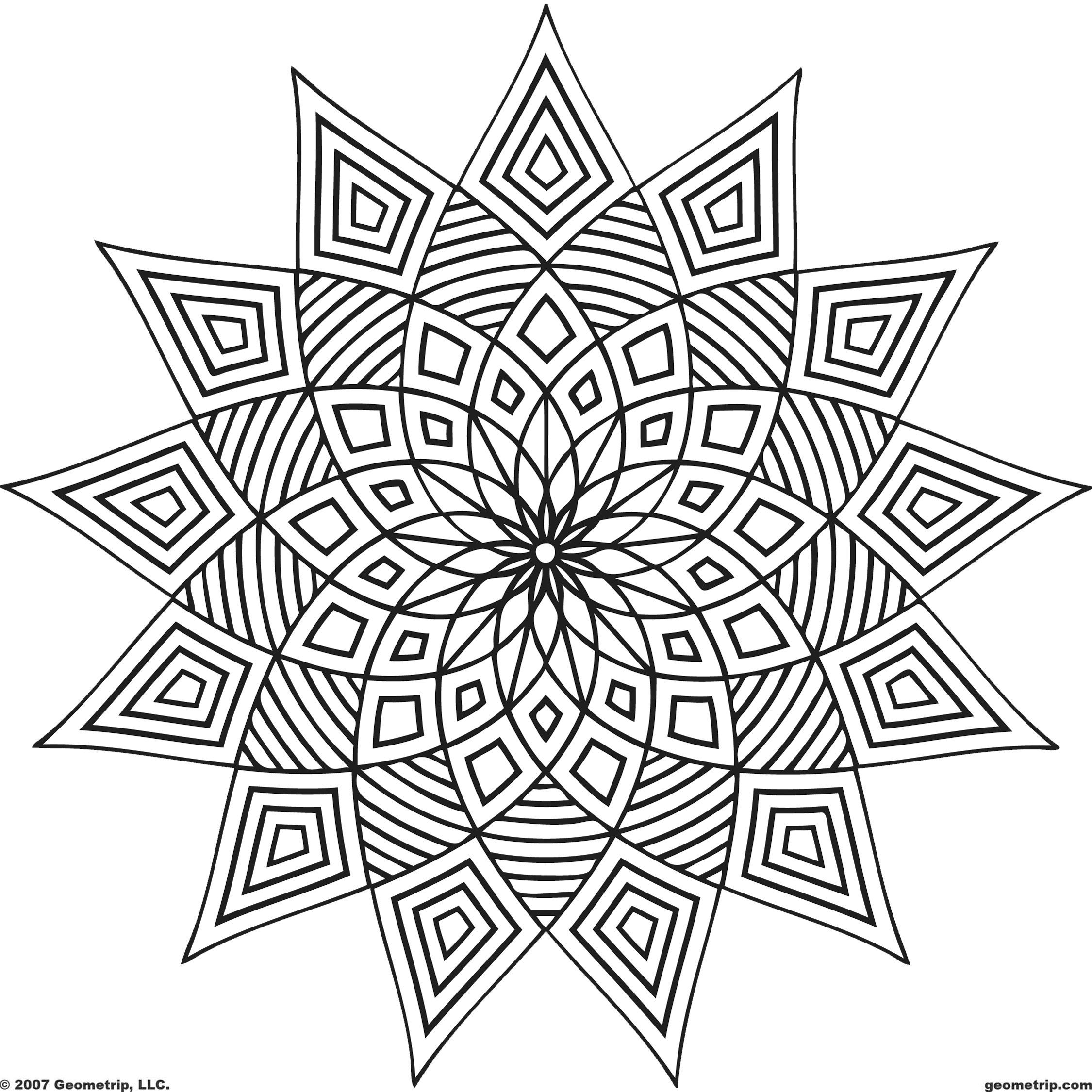 Geometric Coloring Pages Lots Of Pages To Download Printout And