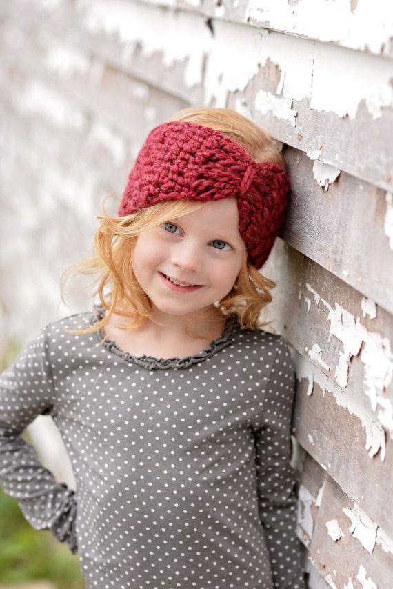 Crochet Ear Warmers / Crochet Headband for Kids / Turban Ear Warmers ...