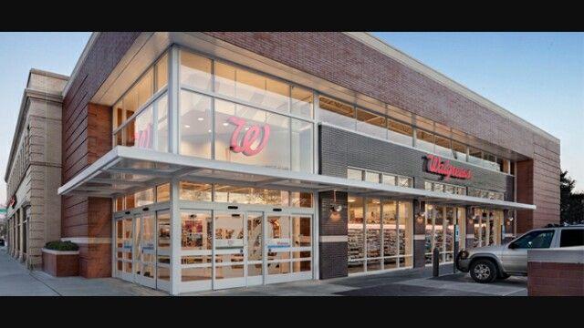 Red Grey Modern Building Design Retail Architecture Exterior Design